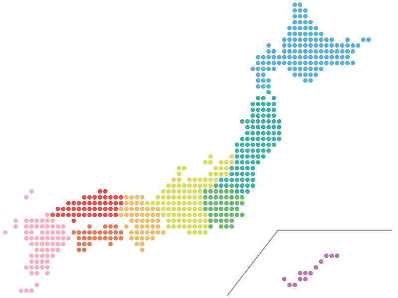 日本全国 どの地域でも対応