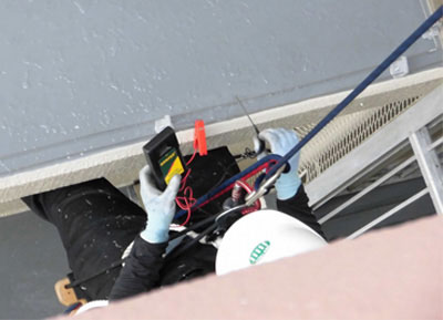 ハト対策方法・施工例 防鳥防鳥ネット設置工事